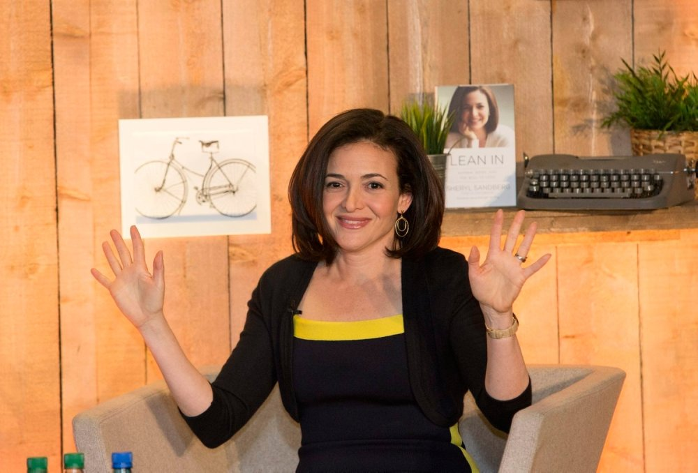 Sheryl Sandberg, author of Lean In and COO of Facebook speaking