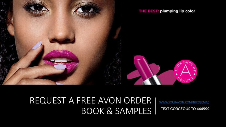 AVON ORDER BOOK AND SAMPLES