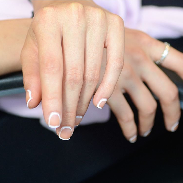 White Out Nails