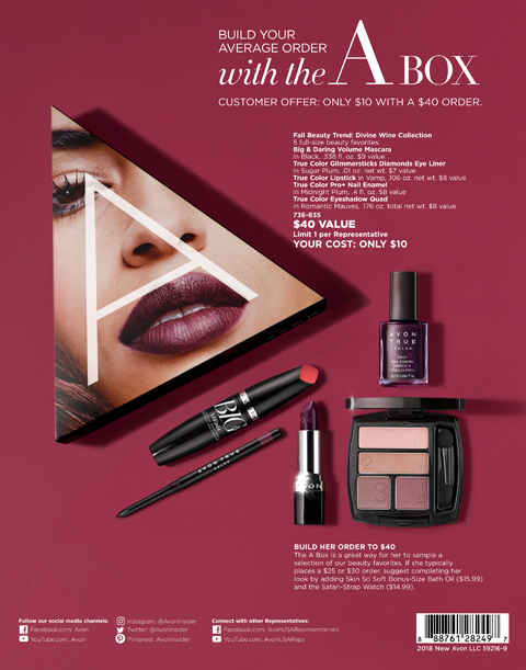 AVON CAMPAIGN 18 WHATS NEW 18-BACK